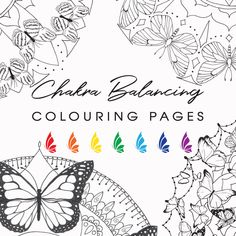 Chakra Balancing Colouring Pages, All Seven Chakras Healing Art, Butterfly Mandala Adult Colouring, Colour Therapy, Printable Art Therapy Colour Therapy, Art Therapy, Printable Art, Printables, Butterfly Mandala, Chakra System, Seven Chakras, Chakra Balancing, Colouring Techniques