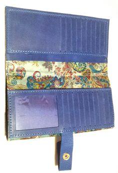 interior de la cartera cachemir. www.cueroarte.com