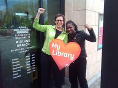 Multnomah County Commissioner Judy Shiprack showing some #library love