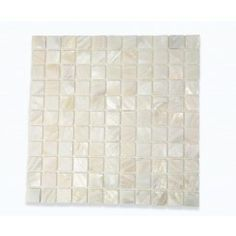 Tiles:  Mother Of Pearl Oyster White  Tile