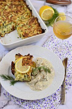 Koskacukor: Kapros-mustáros csirkemell, tepsis cukkini rösztiv... Chicken, Meat, Dinner, Recipes, Food, Dining, Food Dinners, Essen, Eten