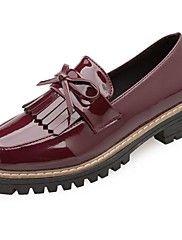 Pentru+femei+Pantofi+Piele+Originală+Iarnă+Confortabili+Mocasini+&+Balerini+Vârf+rotund+Funde+pentru+În+aer+liber+Negru+Bej+Vișiniu+–+EUR+€+25.28