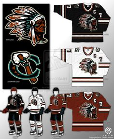 Chicago Blackhawks Concept by CBS-Ink.deviantart.com on @deviantART