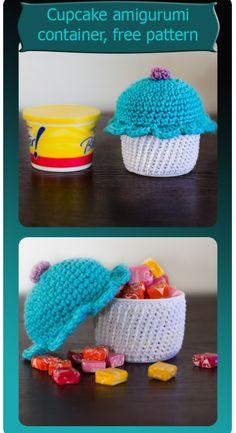 amigurumi cupcake container free pattern