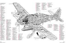 Focke Wulf Fw-190A-8 cutaway by John Weal