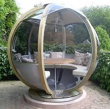 Farmer's Cottage Rotating Sphere Seater - modern - patio furniture and outdoor furniture - John Lewis. via Paris J. Garden Furniture, Outdoor Furniture, Outdoor Decor, Outdoor Seating, Unusual Furniture, Wicker Furniture, Outdoor Office, Furniture Direct, Furniture Nyc
