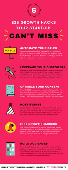 6 Growth Hacks Your Start-Up Can't Miss [Infographic] – Shop Ideas – Business Ideas Seo Marketing, Sales And Marketing, Content Marketing, Affiliate Marketing, Marketing Strategies, Marketing Ideas, Business Marketing, Digital Marketing, How To Get Followers