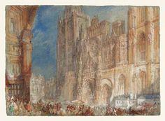 J. M. W Turner: Rouen Cathedral, circa 1832