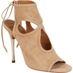 Aquazzura Sexy Metal Thing Booties in Nude as seen on Kendall Jenner