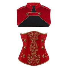 Royal Guard Red Corset - The Violet Vixen