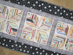Selvage Blog - table runner by Elena of Carolinasquirrell on Etsy