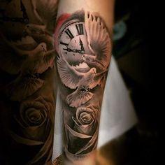 Tattoo Ideas Inner Forearm Tattoo, Cool Forearm Tattoos, Forearm Tattoo Design, Arm Tattoos For Guys, Tattoos For Women, Dove Tattoo Design, Tattoo Women, Tattoos Bein, Dove Tattoos