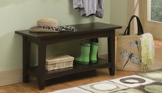 The Shaker Cottage Bench with Shelf can be used as a Coffee Table, a Bench in the mudroom or in any lifestyle setting. This sturdy unit is easy to assemble and includes a lower shelf for storage.