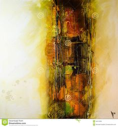 Modern Abstract Painting Fine Art Artprint Stock Image - Image: 46313369