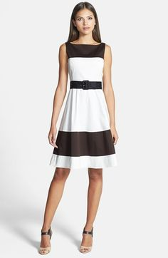 kate spade new york belted stretch cotton a-line dress available at #Nordstrom