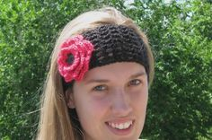 Crocheted headband or hairband, adult size, video #1