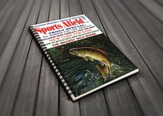 Party Guest Book - Sports Afield Trout Fishing Cover Art - Fishing Themed Party - Fishing Gift For Dad - Retirement Party Gift - Fly Fishing by AdirondackRetro on Etsy