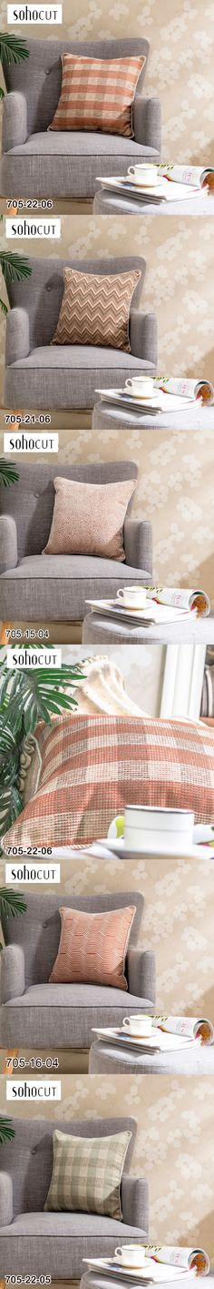 New Product Geometric Cotton Linen Throw Pillow Sofa Office Back Cushion Bedroom Decorative
