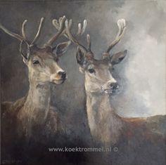 Deer Art, Moose Art, Cow Art, Wildlife Art, Animal Paintings, Beautiful Paintings, Monet, Painting Inspiration, Art Pictures
