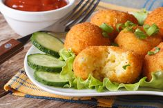 Cheese Potato Bites recipe by Deviyani Srivastava at BetterButter Croquettes Recipe, Potato Croquettes, Vegetable Dishes, Vegetable Recipes, Healthy Potato Recipes, Potato Bites, Cheese Potatoes, Cheese Bites, Hungarian Recipes