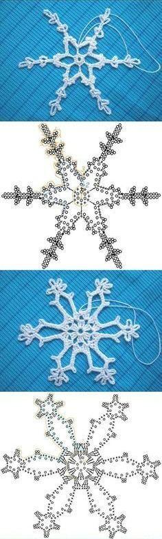 MES FAVORIS TRICOT-CROCHET: 30 diagrammes pour faire des flocons de neige au crochet