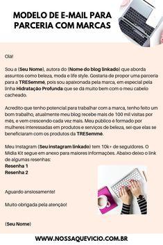 COMO CONSEGUIR PARCERIAS PARA SEU BLOG + MÍDIA KIT GRÁTIS PARA EDITAR Instagram Blog, Blog Tips, Google, Content Marketing, Make Money On Internet, Media Kit, Social Media Tips