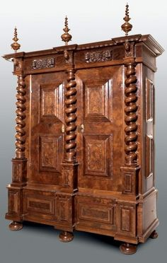 the meyer zum pfeil wardrobe basle ca 1700 carcase pine veneer antique english country armoire circa 1830s