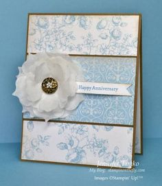 FMS30 - Anniversary Flower by jentimko - Cards and Paper Crafts at Splitcoaststampers