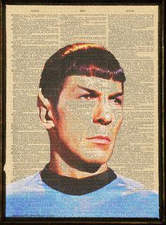 Spock Dictionary Art Print