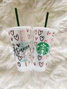 Starbucks Cup Art, Custom Starbucks Cup, Starbucks Tumbler, Starbucks Drinks, Starbucks Logo, Personalized Starbucks Cup, Personalized Cups, Custom Cups, Coffee Tumbler