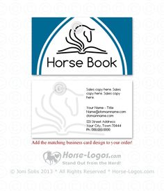 26 best horse business cards images on pinterest horse logo a double sided business card design created to match the horse head logo colourmoves