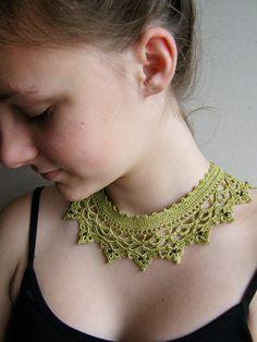 crochet collar/chocker necklace