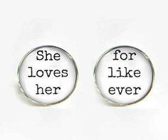 These adorable cufflinks. | 23 Super Cute Lesbian Wedding Ideas