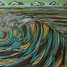 The Surf Art of Heather Brown Heather Brown Art, Tropical Art, Surf Art, Weird Art, Realism Art, Ocean Art, Surfs Up, Love Art, New Art