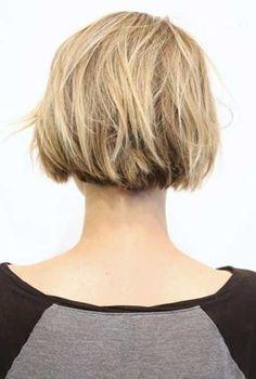 9. Kurz Abgehackt Blonde Bob Haarschnitt Hinterkopf
