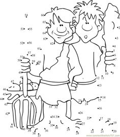Download or print Cain and Abel dot to dot printable worksheet from Cartoons,Cain-And-Abel connect the dots category.