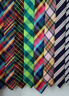 Love how these ties clash but work so well together at the same time. Love love love!