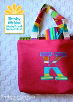 The Homes I Have Made: Birthday Gift Idea - Coloring Kit with Personalized Tote