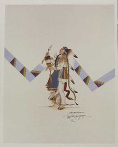 Comanche Doc Tate Nevaquaya Print x - Sep 2009 American Indian Art, American Indians, Nativity, Stamps, Auction, Artists, Painting, Seals, The Nativity