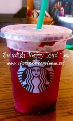 Remember Swedish Berries candy? Well, this Swedish Berry Iced Tea is a must try! Recipe here: http://starbuckssecretmenu.net/starbucks-secret-menu-swedish-berry-iced-tea/