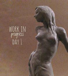 "Lorenzo Sammartino  ""SALMACIS #polymer #clay #sculpture #art #nimph of the #lake #mith #mithology #genesis #progressive…"""