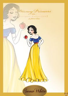 "After the release of ""Designer Disney Princess Collection"" I thought I'd make one too. I begin with the first Disney Princess. Disney Princess Snow White, Disney Princess Art, Disney Fan Art, Disney Girls, Disney Style, Disney Love, Disney Magic, Disney Princesses, Anna Disney"