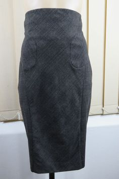 Size M 12 Cue Ladies Check Paisley Skirt High Waist Chic Office Business Corporate Office Work Timeless Design Style
