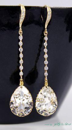 Padma Champagne Gold Wedding Earrings Bridesmaid