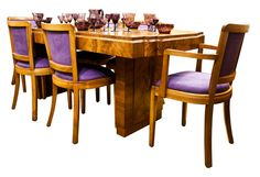 Art Deco Dining Table with Six Chairs British c.1930