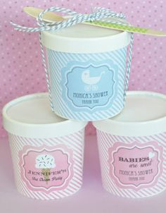 PARTY FAVORS - Shop for Mini Ice Cream Tubs with Lids - Baby Shower (($))