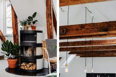 Synliga takbjälkar på plan fem i Galatea Sven vintappares gränd Loft, Stockholm, Beams, Ladder Decor, Design, Home Decor, Photos, Wood Beams, Furniture