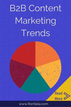 """The next big leap in technology will be """"smart"""" everything – cars, kitchens, entire cities. If you really want to be on the cutting edge of this technology, here is an example of its use in B2B marketing:: B2B Content Marketing Trends via @ronsela"""