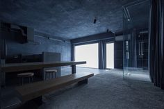Japan dark grey apartment