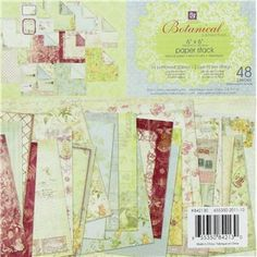 """Prima Marketing 6"""" x 6"""" Botanical Collection Paper Stack 